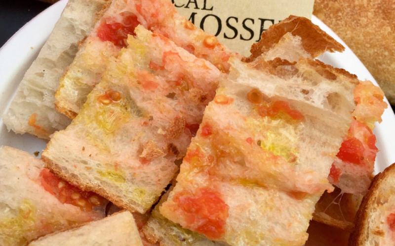 La coca de Mossèn Cinto al Mercat del Born Gourmet